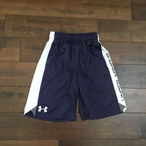 Under Armour Navy Blue/White Shorts Sz Medium